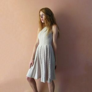 Far Away From Close Cable Knit Dress